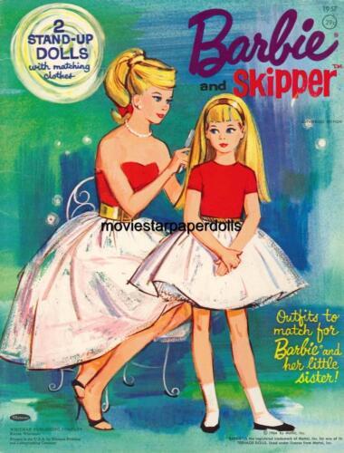 VINTAGE UNCUT 1964 BARBIE SKIPPER PAPER DOLLS HD~LASER ORG SZ REPRODUCTION~LOP