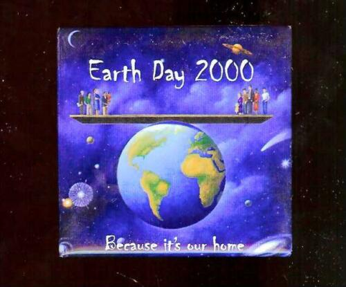 old EARTH DAY 2000 because it's Our HOME Pin GLOBE pinback