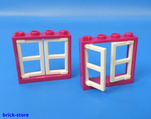 4520842 1x4x3 Fenster magenta color Türen weiß 6173087 2 Stück LEGO®  Nr.