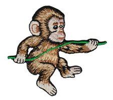 bg91 Affe Baby Schimpanse Aufnäher Bügelbild Applikation Tiere 7,8 x 7,1 cm