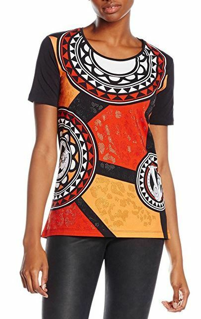 Versace Jeans damen embelished jersey manarola T-shirt top Größe XXS