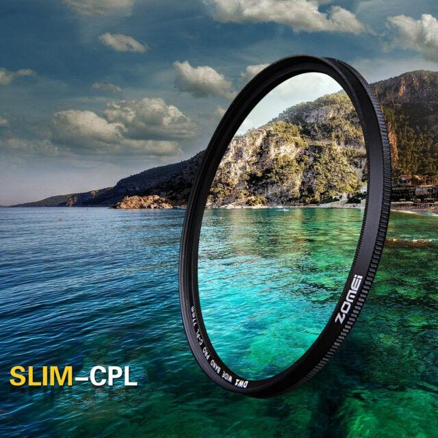 72mm CPL Circular Polarizer Glass Lens Filter