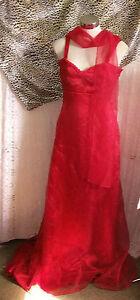 Humour Magnifique Burlesque Scarlet Robe De Bal / Eve & Voile Wrap & Rose Détail-afficher Le Titre D'origine Top PastèQues