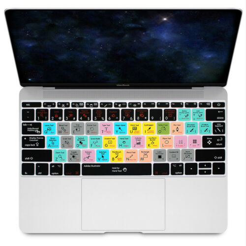 "Shortcut Hotkey Silicone Keyboard Cover For Mac New  Pro 13 A1708 and 12/"" A1534"