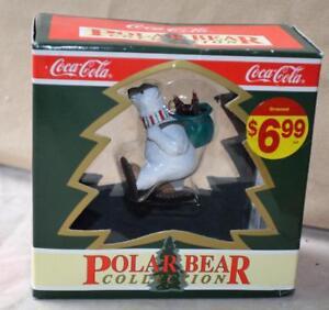NIB-1994-COCA-COLA-Polar-Bear-Collection-NORTH-POLE-DELIVERY-Christmas-Ornament