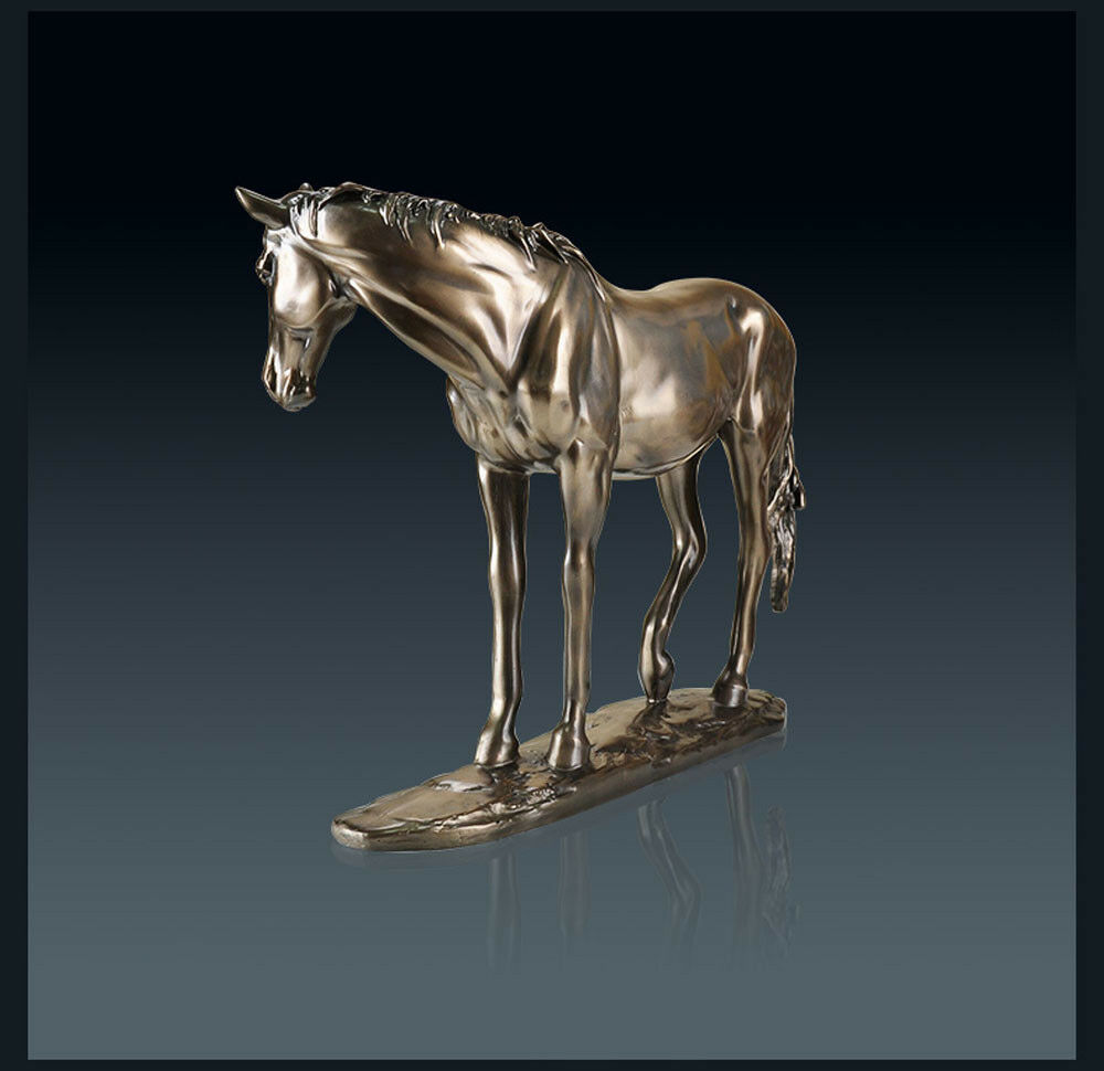 D681 Resin Bronze Steed Figurine Living Room Bedroom Wedding Desktop Decor Z