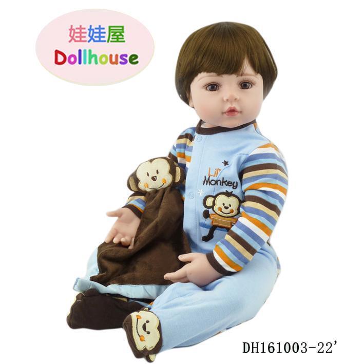 24  Bambino Rinato Baby Girl Doll Toy in silicone VINILE likelife neonato bambini regalo