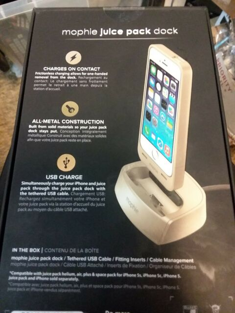wholesale dealer 39b89 a28cf mophie Juice Pack Dock for iPhone 5/5s/se Gold OEM Retail Package
