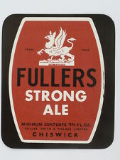 Unused 1950s-60s Fullers Strong Ale 9oz Tavern Trove Chiswick England
