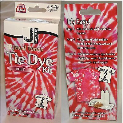 TIE DYE KIT GREAT FASHION FUN RUBY