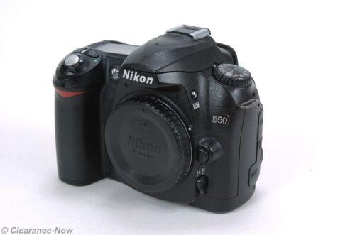 Nikon D50 6.1 MP Camera Black Body for Parts or Repair 6151