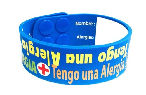 AllerMates I Have Allergies Writeable Wristband Bracelet ID Kids Children script