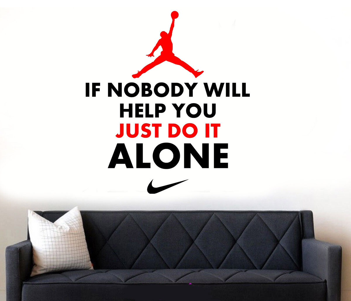 Nike wall sticker image collections home wall decoration ideas michael jordan wall decal images home wall decoration ideas michael jordan quote basketball boysgirls nike bedroom amipublicfo Choice Image
