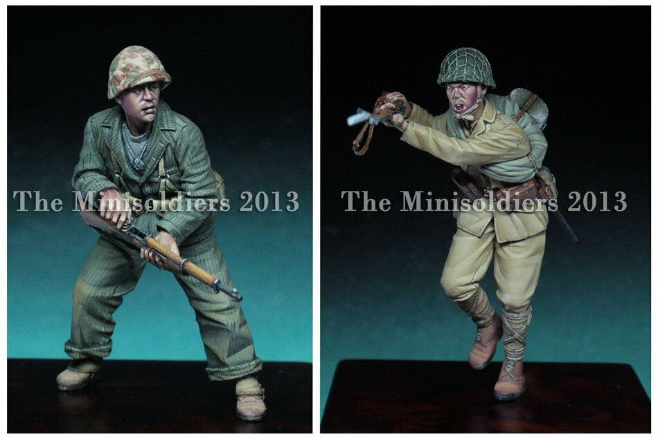 Mini Soldiers MS-0027 1 35 WWII  The Pacific  Set 2 (2 figures)