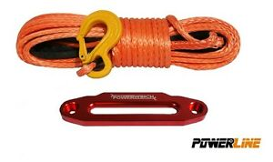 93-FT-10-mm-SYNTHETIC-WINCH-ROPE-Aluminum-Hawse-amp-Solid-Hook-Dyneema-SK75