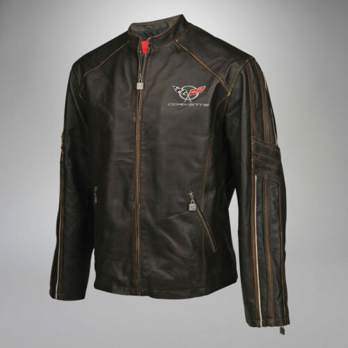 1997-2004 Corvette C5 GS Racer Lightweight Extra Long Length Leather Jacket