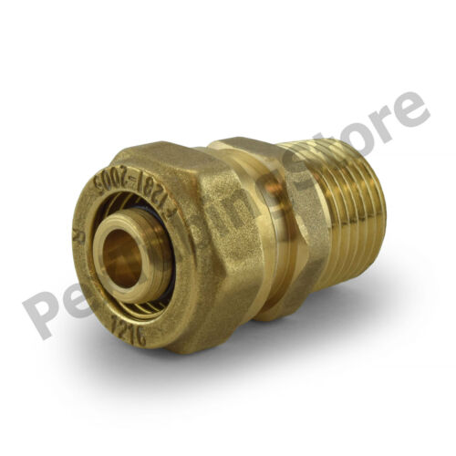 "1//2/"" PEX-AL-PEX Compression x Male Threaded Brass Adapter Fitting"
