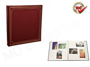 Red-Large-Self-Adhesive-Photo-Albums-Spiral-Bound-24-Sheets-48-Sides