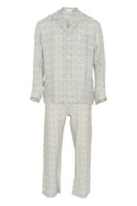 Brioni-Pyjama-Sets-Men-039-s-L-Gray-geometric