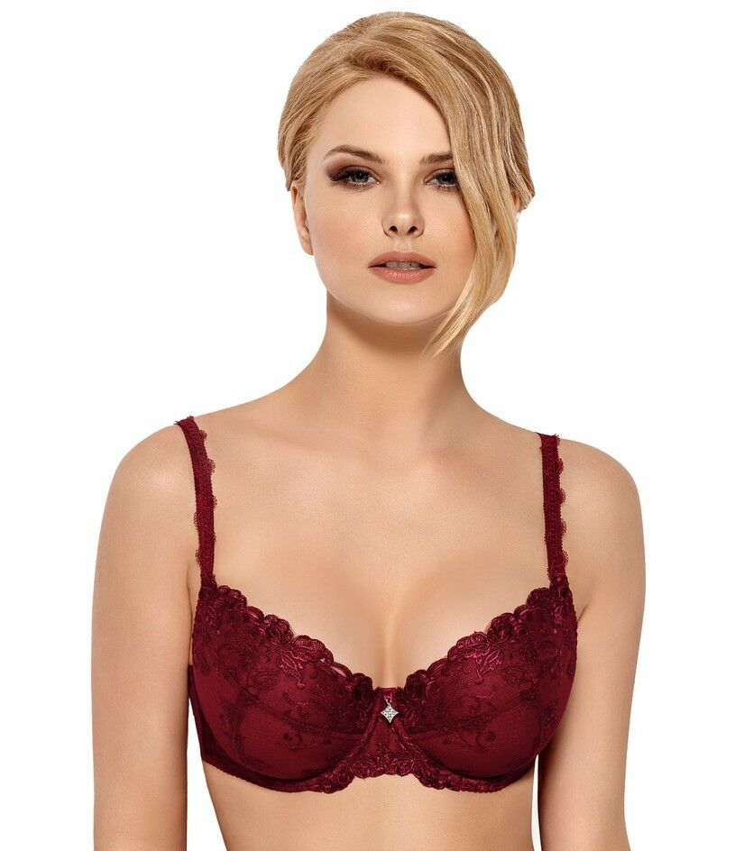 Women  B-271 KATRIN Carmine Push-up Bra by Wiesmann (Chest 30-38, Cups A-H)