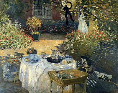 The Luncheon by Claude Monet Giclee Fine Art Canvas Print