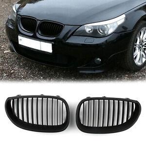 Matt-Black-Front-Grille-Rinon-Parrilla-Rejilla-Para-BMW-E60-E61-5-Series-03-10-A