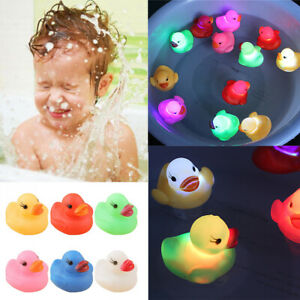 Changing-Floating-Water-Toddler-Bath-Duck-Toy-Baby-Bath-Toy-LED-Light-Flashing