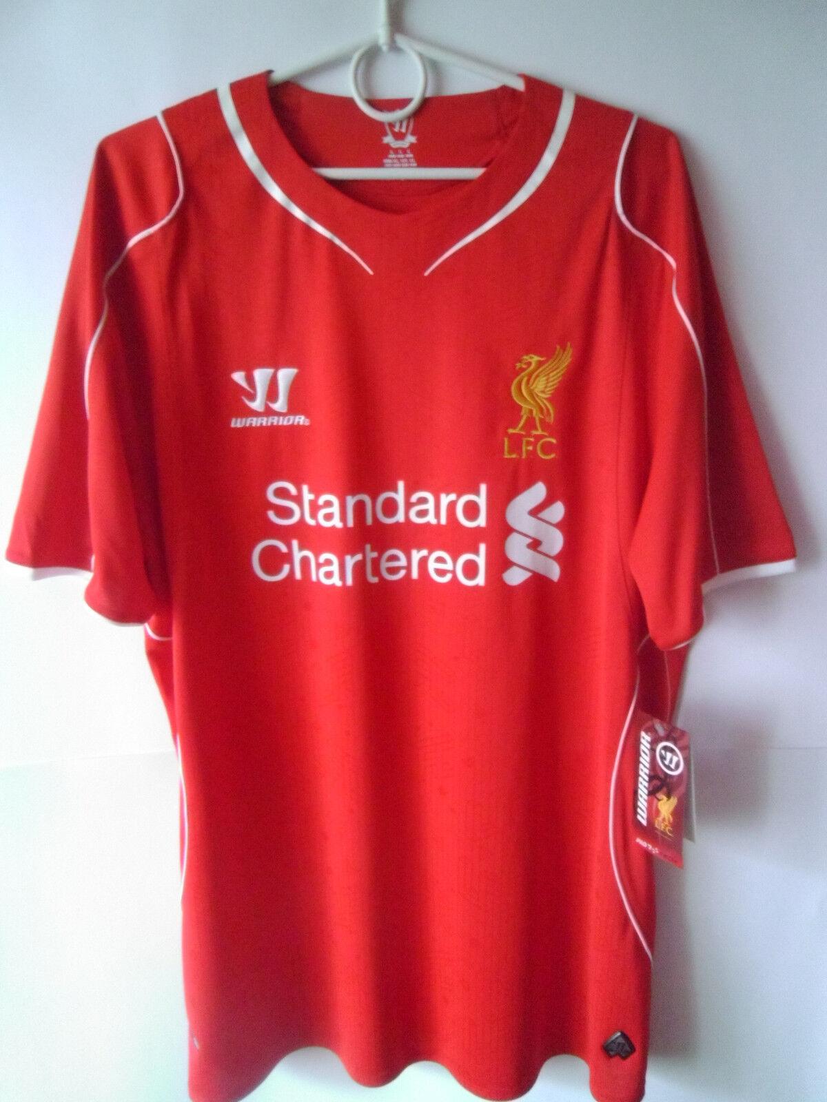 EXCELLENT    BNWT      2014-15 Liverpool Home Shirt Jersey Trikot L 0e221f
