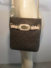 NWT Michael Kors Hamilton Brown Signature Crossbody PVC Bag Handbag Purse