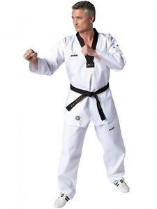 Kwon-TKD-Anzug-Victory-weiss-mit-schwarzem-Revers-WTF-rec-160-170-oder-180cm