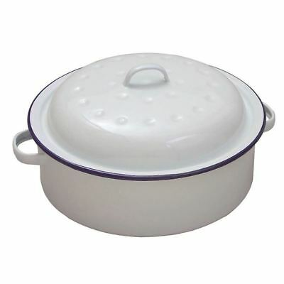 Cream Falcon Enamel Bake Pan Roaster 34x28cm