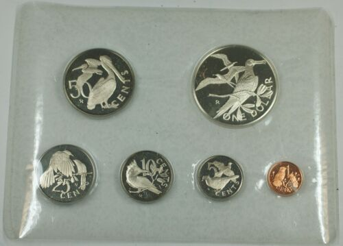 1974 Franklin Mint Virgin Islands Proof Set with Sterling Silver .925 1$ Coin