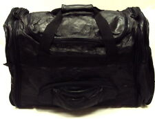 89c727bd37 Sojourns End Black Lambskin Leather Patchwork Duffle Bag for sale ...