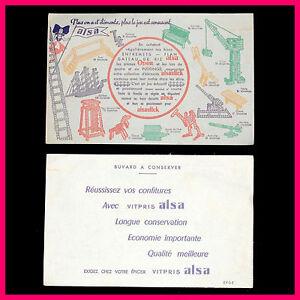 ANCIEN BUVARD PUBLICITAIRE ALSA JEU DE CONSTRUCTION ALSASTICK 9xNzTFby-09101714-581442863