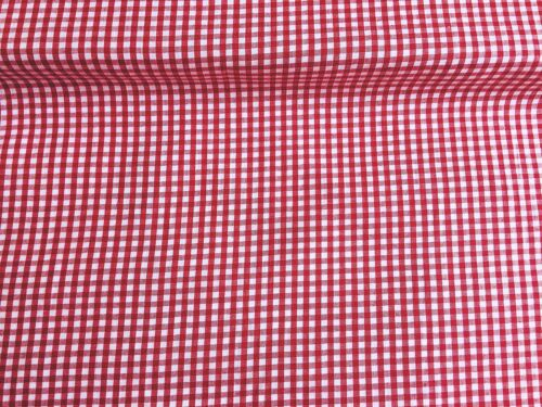 "Polycotton Fabric NEW Craft Metre Red GINGHAM 1//8/"" Check Material Special Offer"
