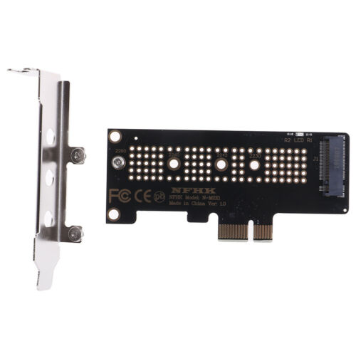 NVMe PCIe M.2 NF SSD to PCIe x1 adapter card PCIe x1 to M.2 card with bracketFU