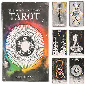 78pcs-Tarot-Deck-Oracle-Cards-The-Wild-Unknown-Rider-Waite-Future-Fate-Telling