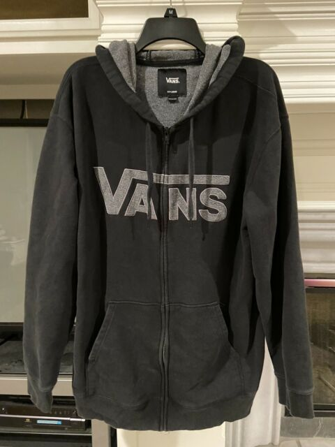 Vans Hoodie Sweater Black Mens Size XXL Vintage EUC!
