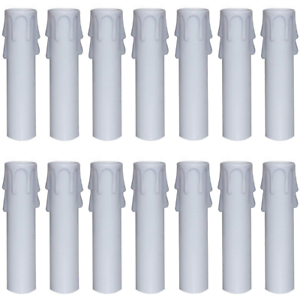 Covers Sleeves For Most Chandeliers 4 24 Packs White Plastic Candle
