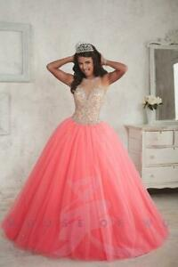 ee21be557c Fiesta Quinceanera Collection 56301 Sz 8 Krystal Pink NWT Very Full ...