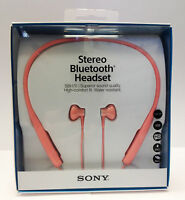 Sony Sbh70 Wireless Stereo Bluetooth Headset Earphones Water Resistant Nfc- Pink