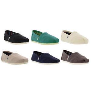 Toms-Classic-Zapatos-Alpargatas-para-mujer-lona-Slip-On