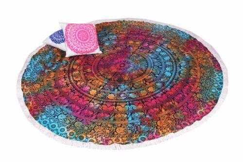 Bohemian Ombre Towel Round Tapestries Mandala Beach Yoga Mat