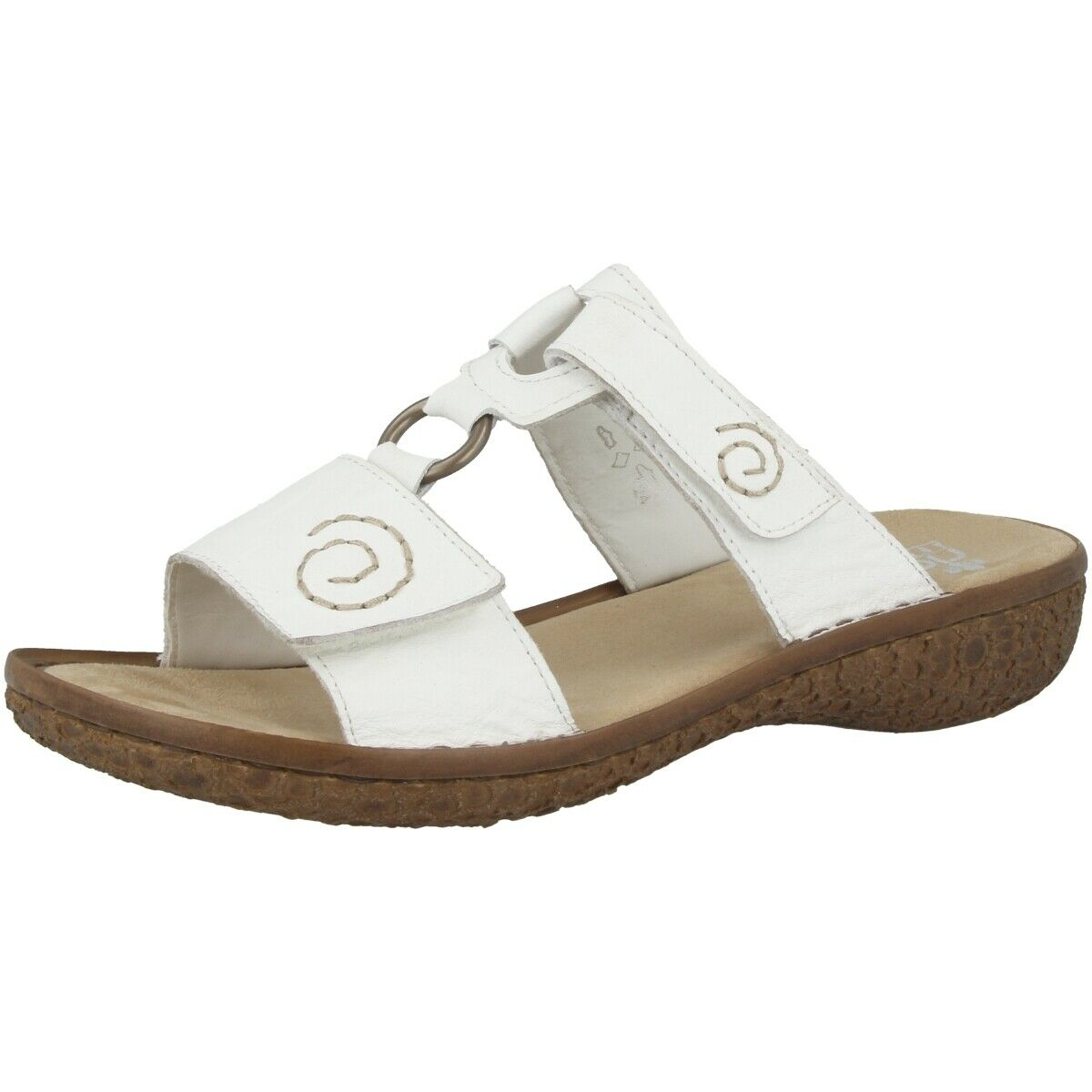 Rieker massa shoes women casual loafers sandals white v69n2-80