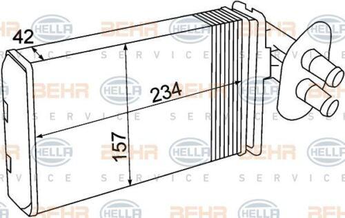 8FH 351 308-741 HELLA échangeur de chaleur intérieur chauffage avant