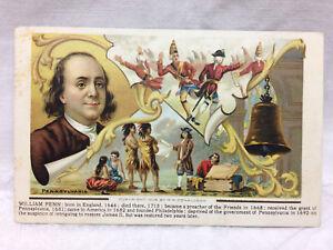 Vtg-Postcard-William-Penn-Pennsylvania-History-1909-Bamforth-amp-Co-England