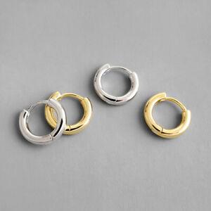 Kleine-Creolen-Rund-echt-Sterling-Silber-925-Damen-Ohrringe-Kreolen