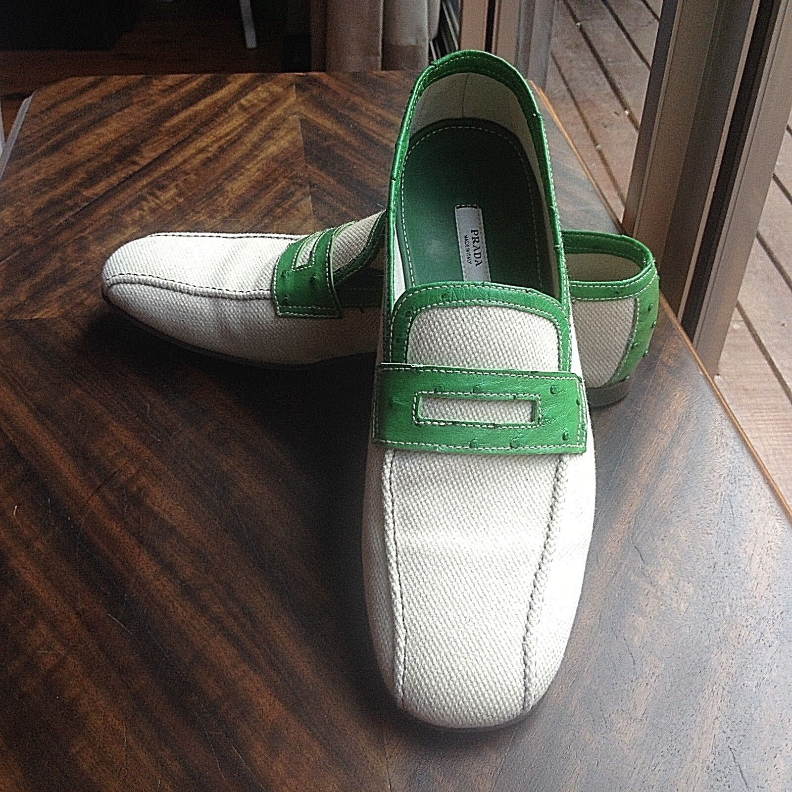 PRADA Uomo MOCCASINS LOAFERS SIZE 10.5 MADE IN ITALY ITALY ITALY EXCELLENT CONDITION 3d670f