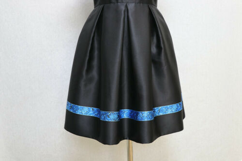 Uk Exquisite Black Sz 10 Charm Dnielle Baker Skater Dress 2 Ted zA6OTq