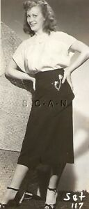 Org Vintage 40s-50s Sepia Semi Nude RP- Skinny Brunette